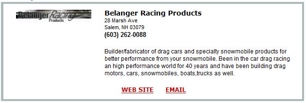 Belanger Racing Products