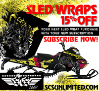 Subscribe to SledHeads and get 15% off your SCS Sled Wrap